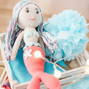 Bio Puppe Meerjungfrau Lilly (30cm) aus Fairem Handel  - Chill n Feel