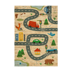 "Kork Kinderteppich ""The Road"" (eckig, natur) - Corkando / Kids"