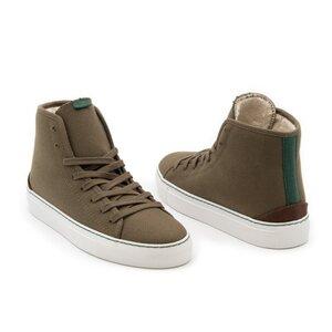 Hoher Wintersneaker PLATO mit recycelter, wasserabweisender Baumwolle - Vesica Piscis Footwear
