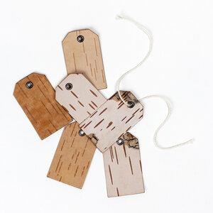 Geschenkanhänger 6er-Set (mit Öse) aus echter Birkenrinde / Birke - MOYA Birch Bark