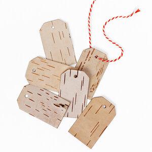 Geschenkanhänger 6er-Set aus echter Birkenrinde / Birke - MOYA Birch Bark