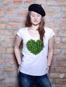Gruenes Herz T-Shirt Tunic - EarthPositive