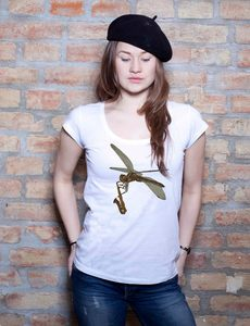 LibellenSaxofon T-Shirt Tunic - EarthPositive