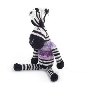 Zebra Kuscheltier - Shamwari Jumbo 40 cm - Handgestrickte Stofftiere by Gogo Olive - Gogo Olive