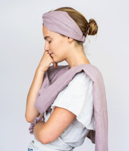 Leinen Tuch I Schal in vielen natürlichen Farben - obumi