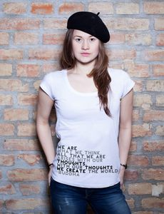 We Are What We Think T-Shirt Tunic - EarthPositive