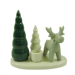 Kerzenständer Tanne/Hirsch, Weihnachtsdeko - Mitienda Shop