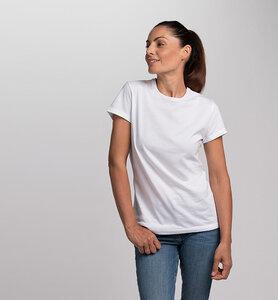 Damen T-Shirt mit Rundhalsausschnitt aus Bio-Baumwolle | Weiß - CasaGIN