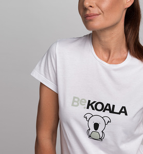 Damen T-Shirt STAY WILD BeKOALA aus Bio-Baumwolle | Weiß - CasaGIN