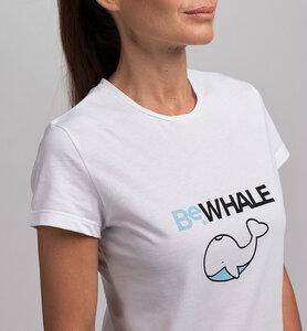 Damen T-Shirt STAY WILD BeWHALE aus Bio-Baumwolle | Weiß - CasaGIN