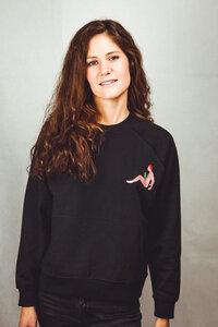 """Unisex Sweatshirt aus Bio-Baumwolle """"Cactus"""" Stickerei grau  - Bretter&Stoff"""
