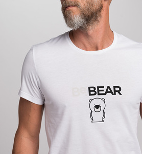Herren T-Shirt STAY WILD BeBEAR aus Bio-Baumwolle | Weiß - CasaGIN