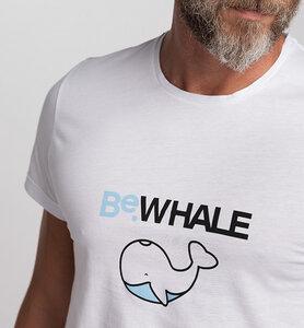 Herren T-Shirt STAY WILD BeWHALE aus Bio-Baumwolle | Weiß - CasaGIN