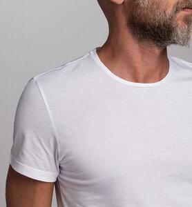 Herren-T-Shirt mit Rundhalsausschnitt aus Bio-Baumwolle | Weiß - CasaGIN