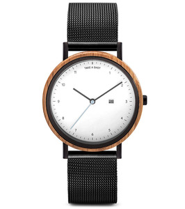 Armbanduhr Amber Eichenholz, 37mm - TAS - Take a shot