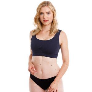 Damen Bio Bustier Basic Raffung Bund - Babettes Organic