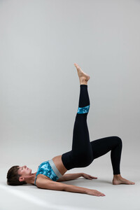 Yoga Leggings –  Power Leggings Blue Drop  - Ambiletics