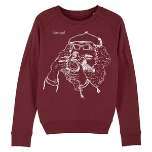 Sweatshirt - Bedruckter Damen Sweater aus Bio-Baumwolle FOTOGRAF - karlskopf