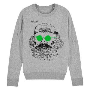 Sweatshirt - Bedruckter Damen Sweater aus Bio-Baumwolle SKATER - karlskopf