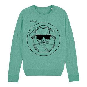 Sweatshirt - Bedruckter Damen Sweater aus Bio-Baumwolle LOGO - karlskopf