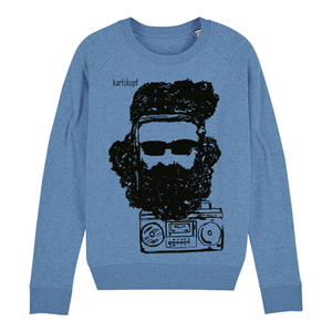 Sweatshirt - Bedruckter Damen Sweater aus Bio-Baumwolle FESTIVAL - karlskopf