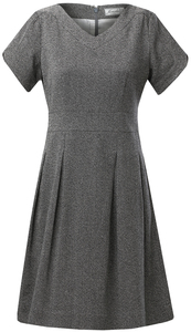 ANNIKA Dress SALT AND PEPPER - Komodo