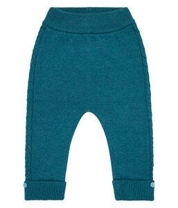 Baby Strick Leggings petrolblau u. rose Biologisch Sense Organics - sense-organics