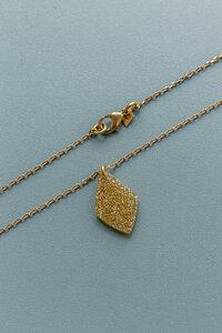 """Kette """"GOLDIE"""" aus Messing und Acetate in Gold mit Glitzer - ALMA -Faire Streetwear & Schmuck-"""