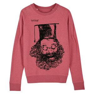 Sweatshirt - Bedruckter Damen Sweater aus Bio-Baumwolle UNIABSCHLUSS - karlskopf