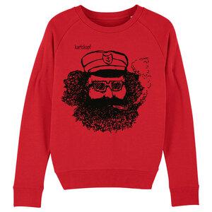 Sweatshirt - Bedruckter Damen Sweater aus Bio-Baumwolle MATROSE - karlskopf