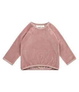 Baby Velour Sweatshirt blaugrün u. mauve Bio Baumwolle Sense Organics - sense-organics