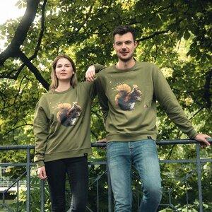 GOTS - Eichhörnchen Sweatshirt Unisex - CircleStances