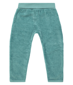 Baby Velour Hose blaugrün u. mauve Biologisch Sense Organics - sense-organics