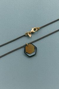 """Kette """"2 Hexagon"""" Messing in Gold und Schwarz - ALMA -Faire Streetwear & Schmuck-"""