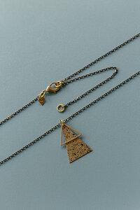 """Halskette """"SU"""" aus Messing schwarz Gesprenkelt und Gold - ALMA -Faire Streetwear & Schmuck-"""