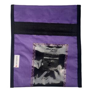 Handgearbeitete Notebook-Tasche / Hülle Notebook Sleeve aus Segeltuch Windsurfsegel UNIKAT 15 Zoll - Beachbreak