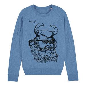 Sweatshirt - Bedruckter Damen Sweater aus Bio-Baumwolle WIKINGER - karlskopf