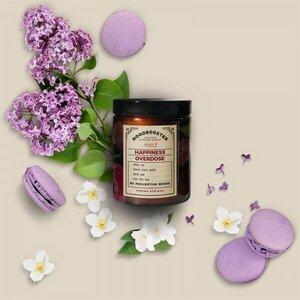 Happiness overdose - Duftkerze Flieder und Frühlingsblumen, russ- und schadstofffrei - Moodbooster