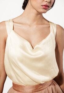Top Satin ärmellos mit Trägern in Creme oder grau - SinWeaver alternative fashion