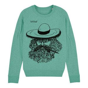 Sweatshirt - Bedruckter Damen Sweater aus Bio-Baumwolle MEXIKANER - karlskopf