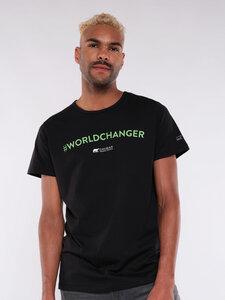 "Herren T-Shirt ""#Worldchanger"" - Erdbär"