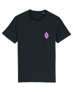 "Unisex T-Shirt aus Bio-Baumwolle ""Viva la Vulva"" Stickerei - Bretter&Stoff"