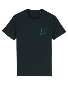 """Unisex T-Shirt aus Bio-Baumwolle """"Butt"""" Stickerei - Bretter&Stoff"""