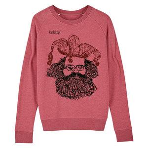 Sweatshirt - Bedruckter Damen Sweater aus Bio-Baumwolle CASPER - karlskopf