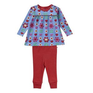Set 2 Teile Schlafanzug Piccalilly Blumen  - piccalilly
