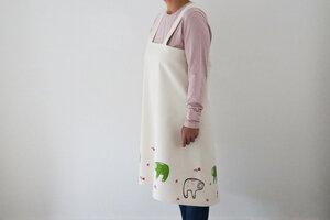 """Japanische Schürze """"Faultiere"""" handbedruckt - luscinia"""