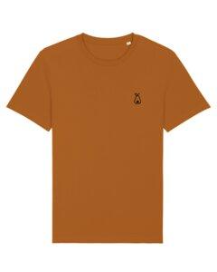 """Unisex T-Shirt aus Bio-Baumwolle """"Logo"""" Stickerei - Bretter&Stoff"""
