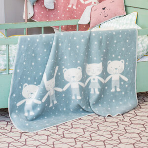 "Kinderdecke MAJA ""Tiere"" aus GOTS-zertifizierter Bio-Baumwolle  - 100 x 150cm - David Fussenegger"