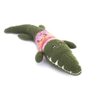 Krokodil Kuscheltier - Shamwari Original 35 cm - Handgestrickte Stofftiere by Gogo Olive - Gogo Olive