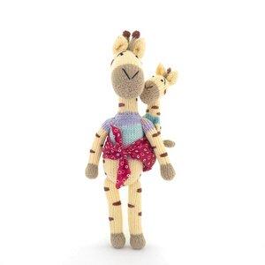 Giraffe Kuscheltier - Shamwari Mama & Baby - Handgestrickte Stofftiere by Gogo Olive - Gogo Olive